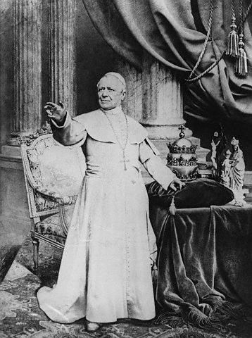 ca. 1865, Vatican City --- Pope Pius IX --- Image by © Hulton-Deutsch Collection/CORBIS
