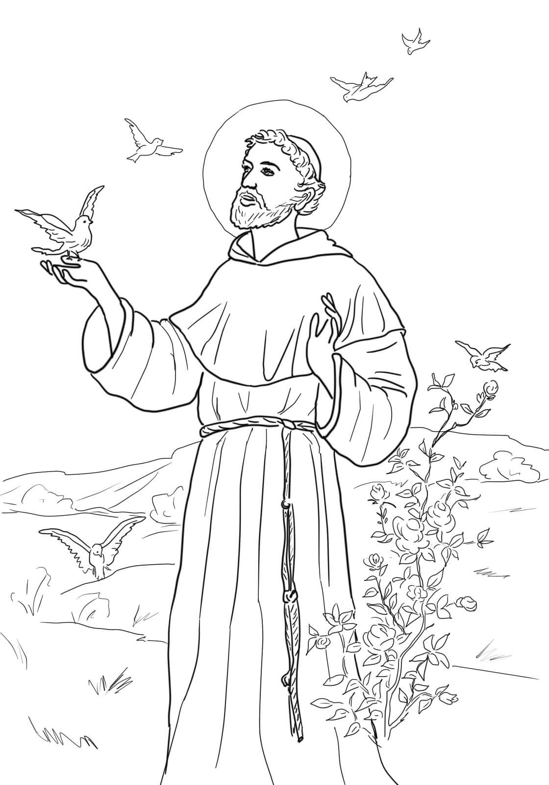 coloring pages for st francis - photo#12